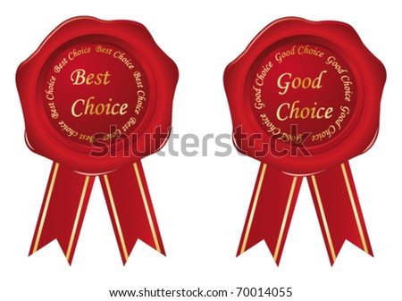 Best choice & Good choice labels. Vector