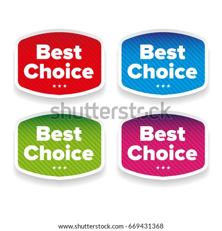 Best Choice label set vetor