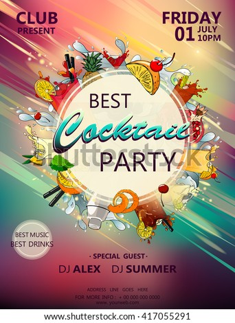 best cocktail party poster with