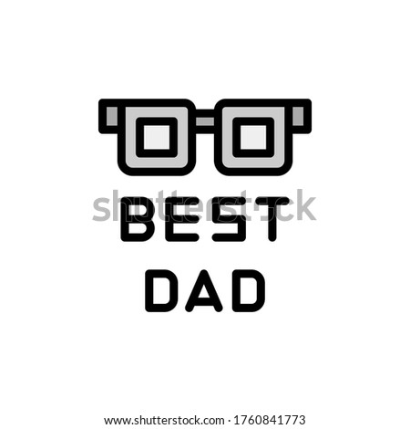 best dad  glasses icon simple
