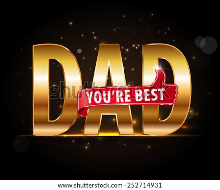 best dad typography icon with thumbs up, happy fathers day vector - eps10 #252714931