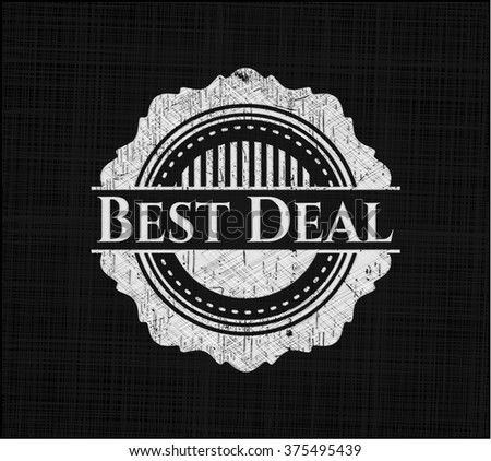 Best Deal chalkboard emblem on black board