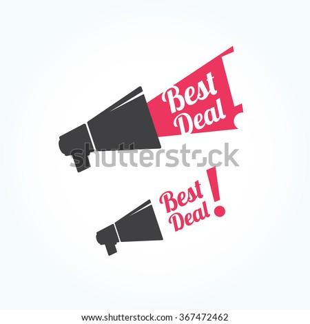 Best Deal Megaphone Icon