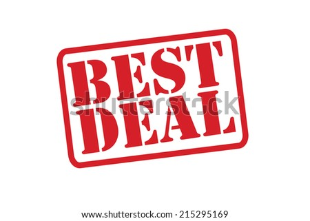 BEST DEAL Red Rubber Stamp vector over a white background.