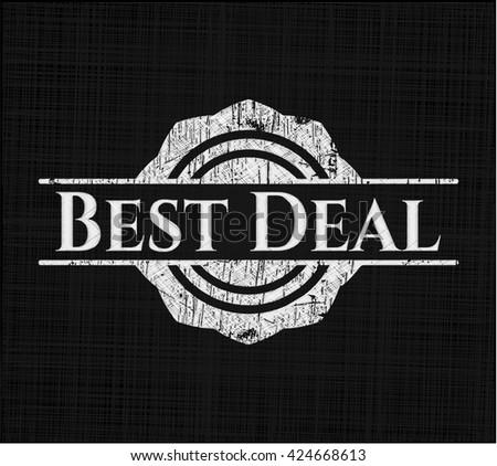 Best Deal written on a chalkboard