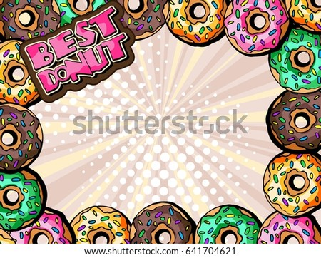 best donuts vector background