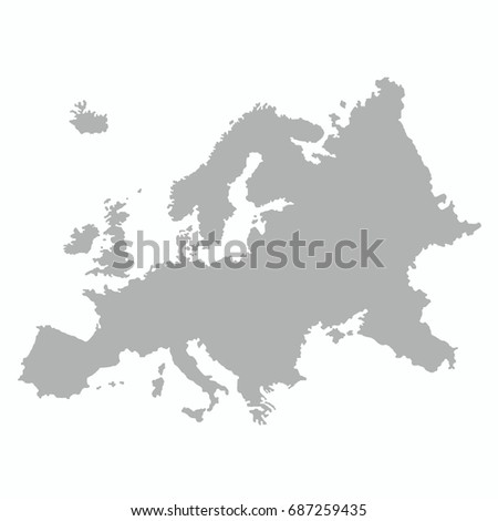Shutterstock best Europe map with country outline graphic vector