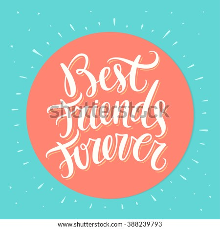 best friends forever bff hand