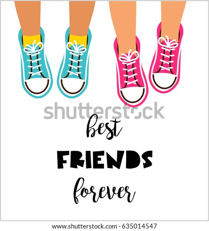 Best friends forever, Happy friendship day poster design, banner, greeting card