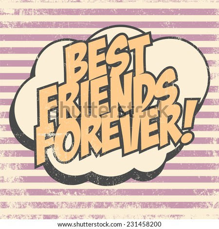 best friends forever, illustration in vector format