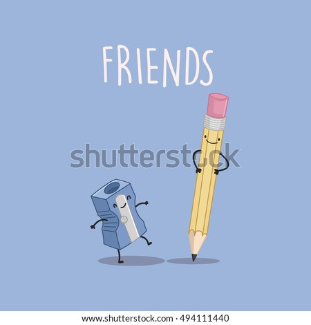 best friends forever  pencil
