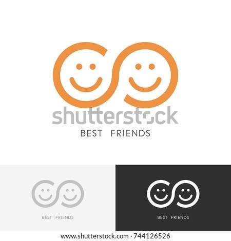 best friends logo   two smiling