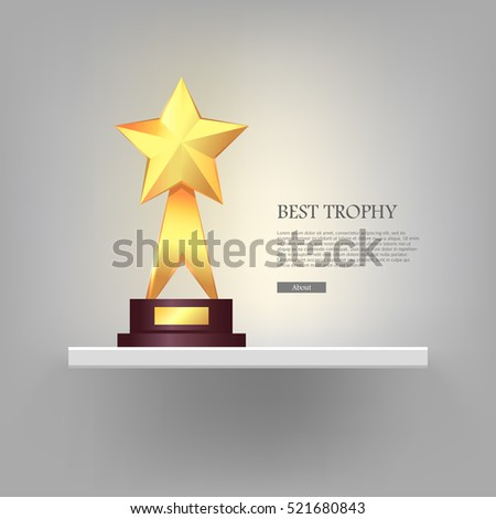 best gold star trophy standing
