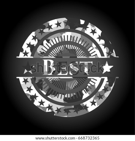 best grey camouflaged emblem