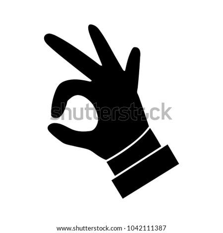 best hand like ok yes flat icon