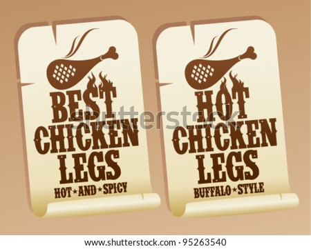 Best hot chicken legs stickers.
