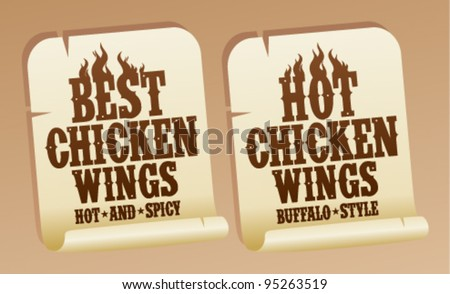 Best hot chicken wings stickers.