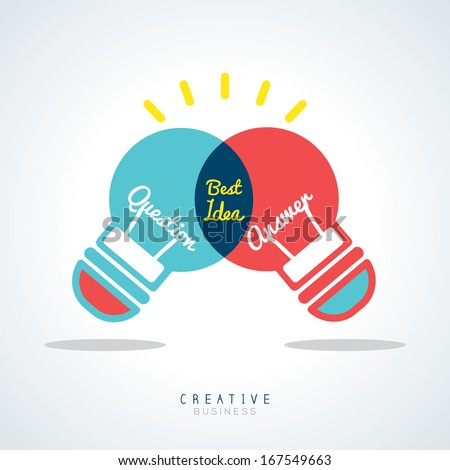 Best Idea Creative light bulb Vector Concept Illustration