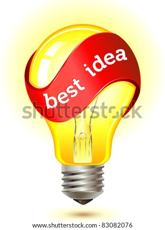 best idea light bulb concept . vector illustration