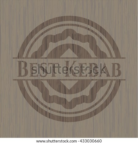 Best Kebab retro style wood emblem