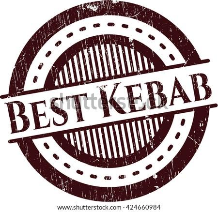 Best Kebab rubber grunge stamp