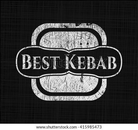 Best Kebab written on a blackboard