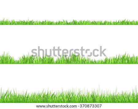 Best looking lawn 3 ideal grass heights for mowing flat horizontal banners set abstract isolated  vector illustration