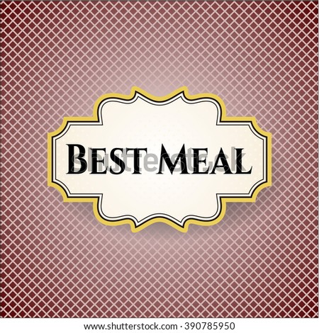 Best Meal banner or card