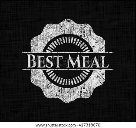 Best Meal chalk emblem written on a blackboard