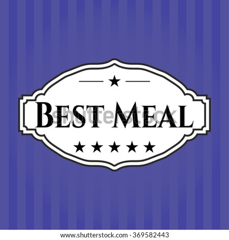 Best Meal colorful poster