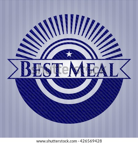 Best Meal emblem with jean high quality background