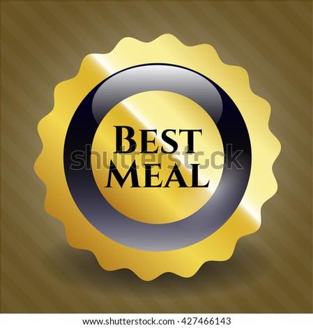 Best Meal gold emblem or badge