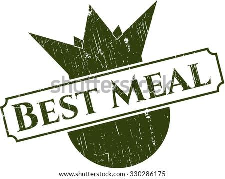 Best Meal rubber grunge stamp