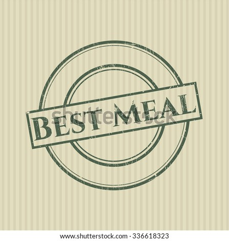 Best Meal rubber grunge texture seal