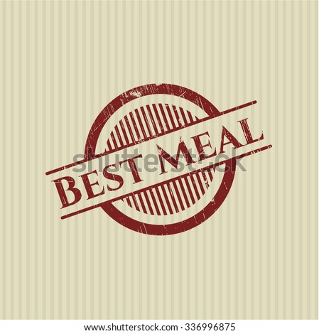 Best Meal rubber grunge texture stamp