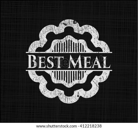 Best Meal written on a chalkboard