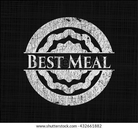 Best Meal written with chalkboard texture