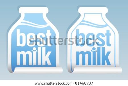 Best milk stickers in form of jug.