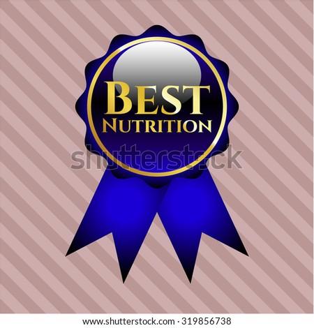 Best Nutrition blue shiny ribbon