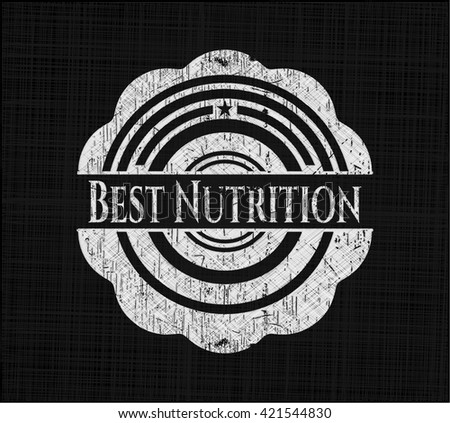 Best Nutrition chalk emblem written on a blackboard