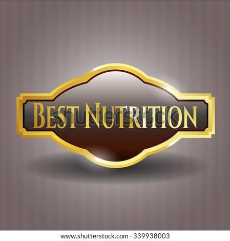 Best Nutrition golden emblem or badge