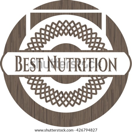 Best Nutrition retro style wooden emblem