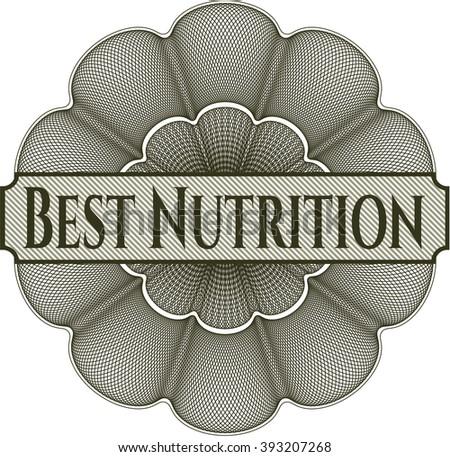 Best Nutrition rosette or money style emblem