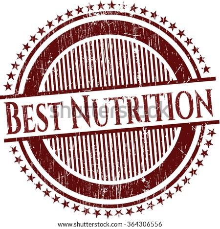Best Nutrition rubber grunge stamp