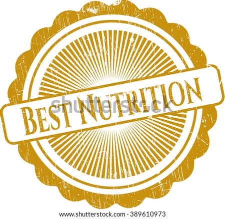 Best Nutrition rubber stamp with grunge texture