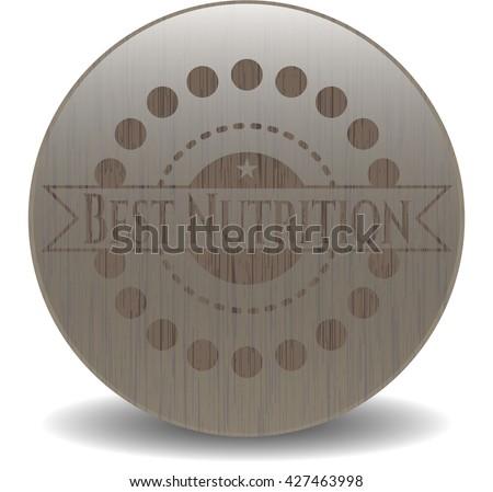 Best Nutrition wooden emblem
