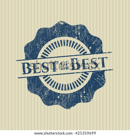 Best of the Best grunge stamp