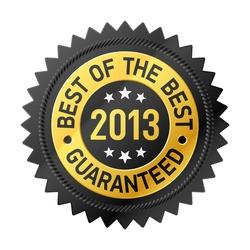 Best of the Best 2013 label. Vector.