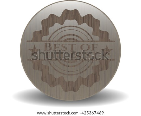 Best of the Best retro style wood emblem