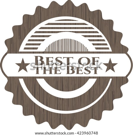 Best of the Best vintage wooden emblem